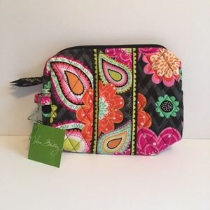 NWT Vera Bradley Ziggy Zinnia Medium Cosmetic Bag